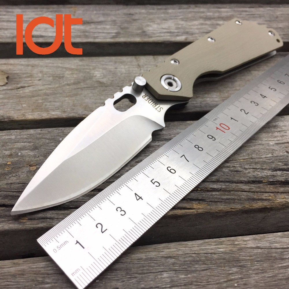 Buy LDT STRIDER Tactical Foding Knife 7Cr17Mov Blade G10 Handle Outdoor Pocket Knives Military Survival Camping Utility OEM Tools cheap