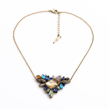 high quality Exquisite Rhinestone Necklace 2016 Wholesale Newest Fashion Thin Chain Collar Necklace Jewelry Free shipping