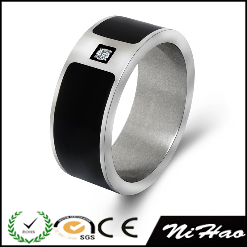 wholesale latest products in market AAA cubic zirconia stainless steel rings for men and women(China (Mainland))