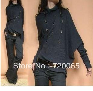 2014 spring batwing sleeve sweater ,women fashion bat - Fashion girl' store