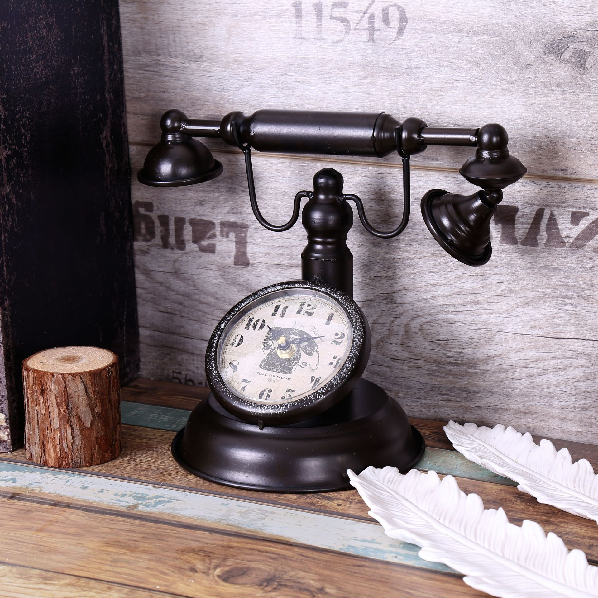 Table english pub table antique periodic table product on alibaba com - Shabby Chic Retro Telephone Model Vintage Decor Retro Desk Clock Table Clock Bar Cafe Crafts Decoration