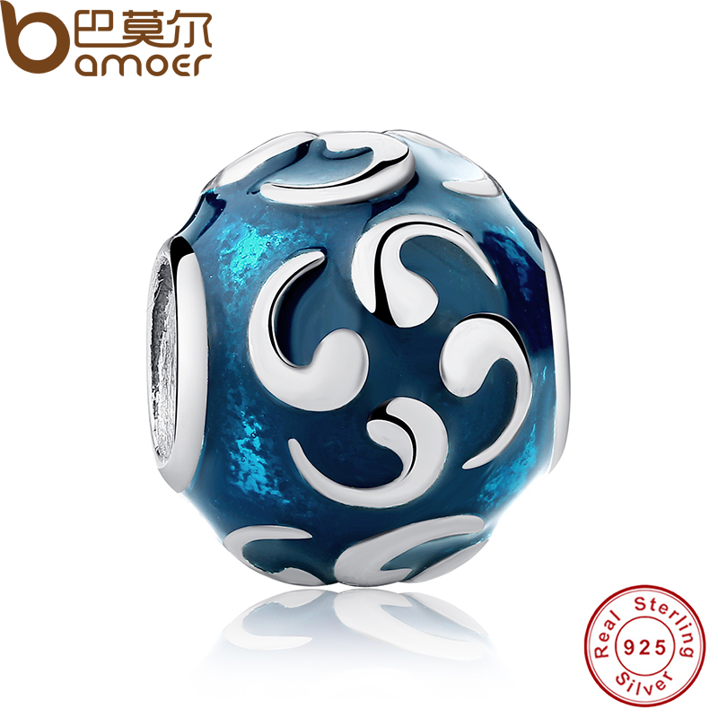 New 925 Sterling Silver TURQUOISE COMMA Charm Fit Original Bracelet Necklace DIY Sterling Silver Jewelry PAS093(China (Mainland))