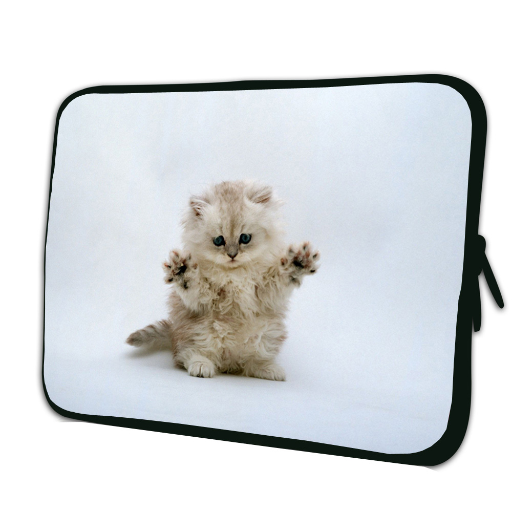 """Cute Cat 12"""" inch Notebook Laptop Inner Soft Bags For Apple Lenovo HP Acer Microsoft Surface 3 11.6"""" 12"""" 12.1"""" Tablets Netbook(China (Mainland))"""