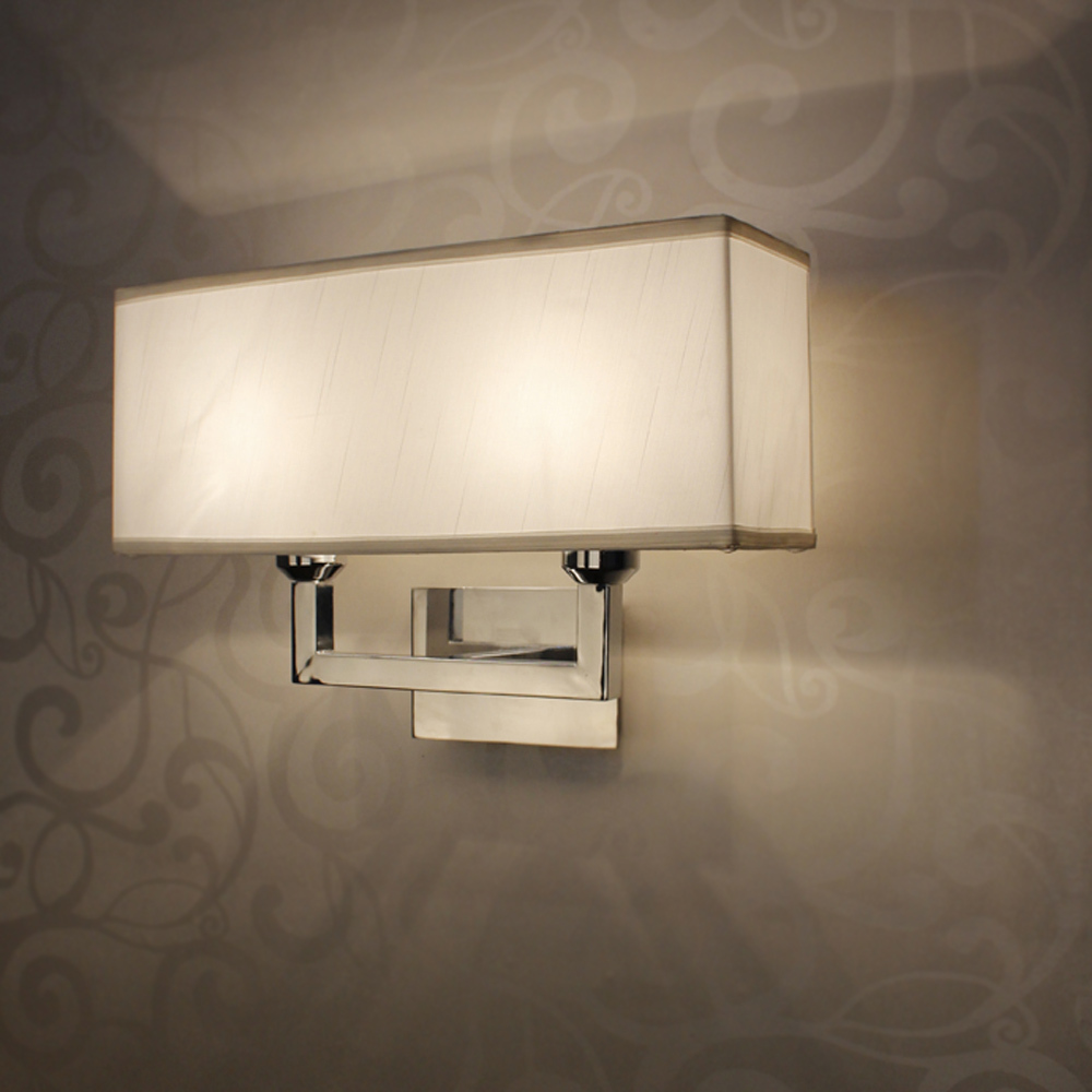 Modern rectangle wall lamp e27 restroom bathroom bedroom for Wall light fixtures bedroom