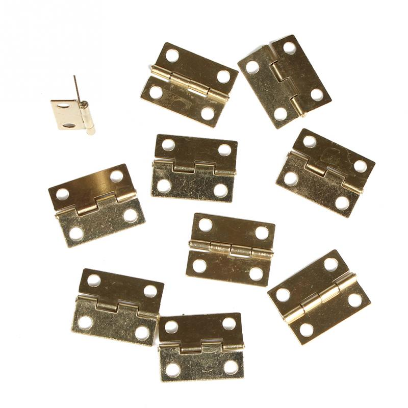 High Quality 10Pcs Door Butt Hinge Mini Iron Hinges Cabinet Drawer -y2(China (Mainland))