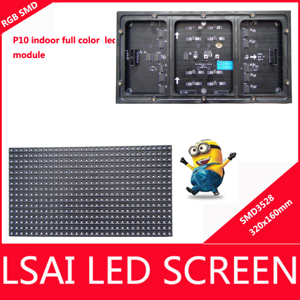 2014 new arrival P10 Indoor Full Color Advertising media LED Display Module, 320x160mm, 1/16 scan, lsai led video wall(China (Mainland))