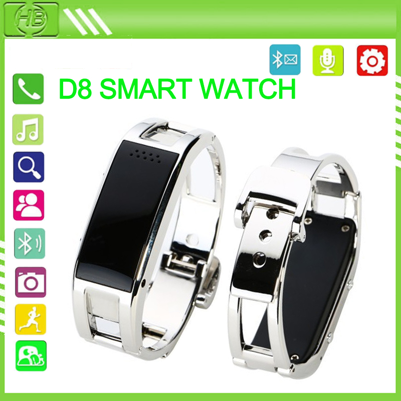Fashional D8 Bluetooth Smart Watch Smartband Bracelet Sync Phone Call/ Pedometer/ Anti-lost for Samsung HTC Android Smartphones