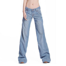 New Women Fashion Pant slim fit Trouser Sexy Flares Jeans W901