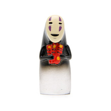 Anime Movie Spirited Away No Face Holding Candy Kaonashi Glass Figure Craft Toy Juguetes Brinquedos