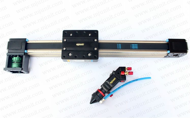 belt drive linear guide rail for cnc laser cutting machine with slots slide stage CO2 laser mechanical parts whole set(China (Mainland))