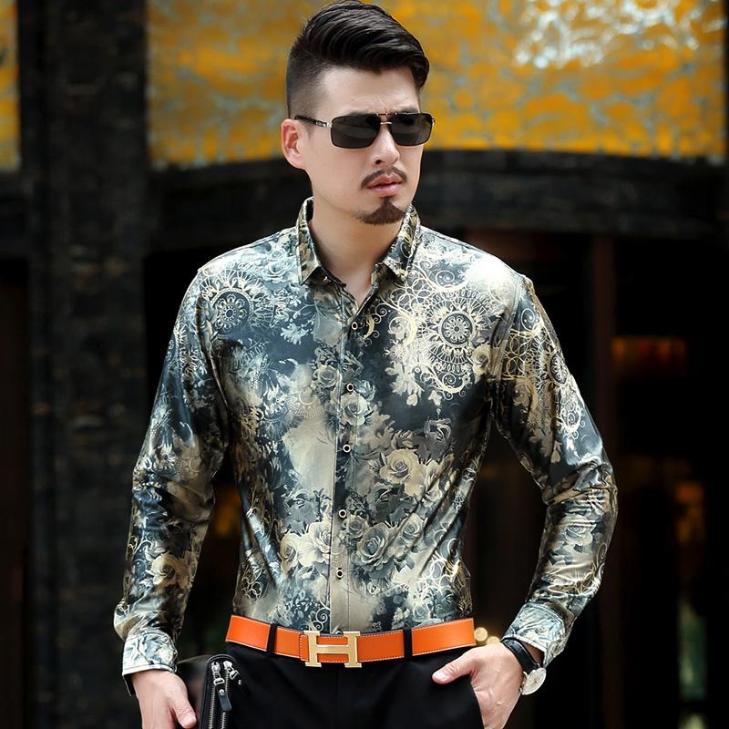 Spring/Autumn Long Sleeve Men's Shirts Male Casual Velvet Formal Men Full Sleeve Dress Shirt Man Slim Masculina Camisa(China (Mainland))