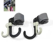 2pcs High Quality Baby Stroller Hook Holder Pram Double Rotate Hook Pushchair Hanger Stainless Steel Shaft, EVA Slip-resistant(China (Mainland))