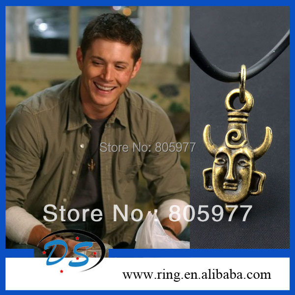Free shipping!Wholesale lots Supernatural Dean Winchester Amulet Pendant Necklace<br><br>Aliexpress