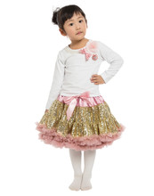 Hot sale Girls 2 Pcs Set Tutu Dress Sets Clothing cotton top + sequined skirts suit baby girls clothing sets clothes(China (Mainland))