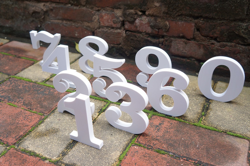 standing decorative carft letters 0 9 outdoor wedding