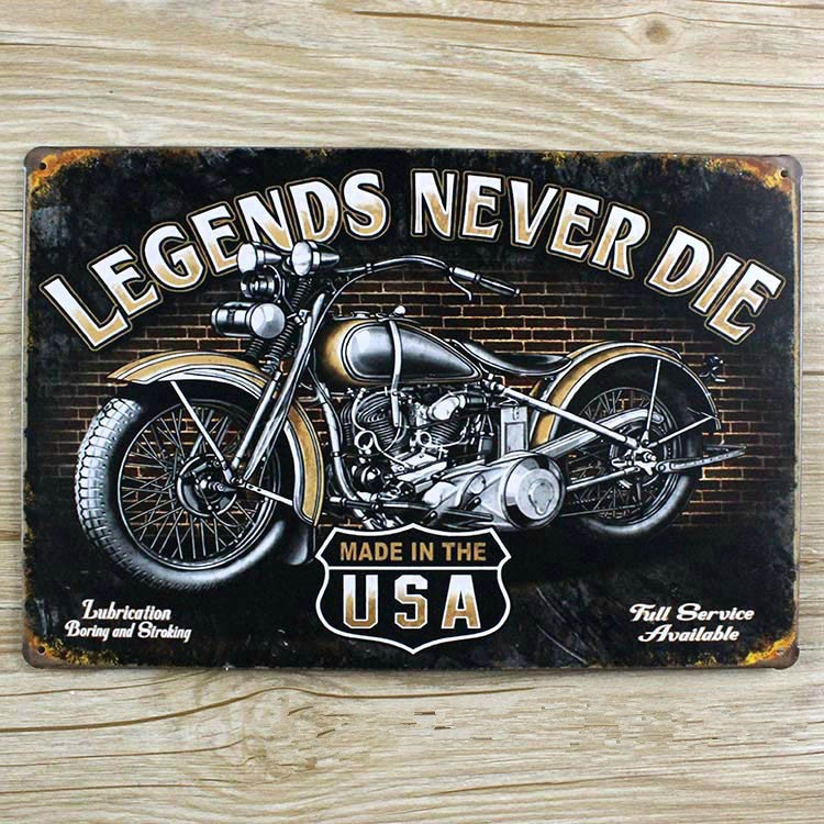 Motorcycle iron painting Metal Tin sign Retro plate Vintage plaque wall art decor cafe bar home 20*30 CM free shipping YT-00402(China (Mainland))