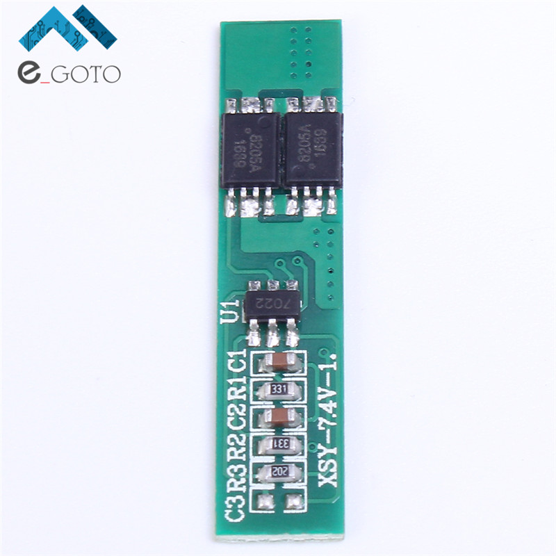 7.4V 2S Polymer Lithium Battery Protection Board 2 Serial Short Circuit Protection Li-ion Charge Module BMS PCM ion li(China (Mainland))