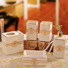 Qualty роскошь 5 штук керамика ванная аксессуары комплект современный принадлежности мыть поставки свадьба домашнее хозяйство элементы