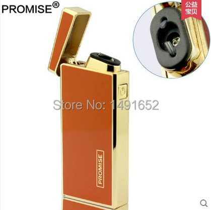 Honest lighter windproof ultra-thin metal pulse charge usb lighter electronic cigarette lighter Free shipping(China (Mainland))