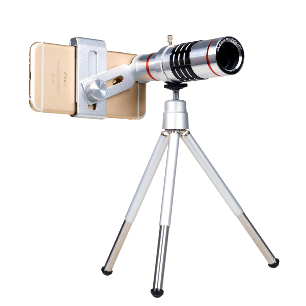 2016 New 18x Zoom Optical Telescope Mobile Telephoto Lens With Tripod For Samsung Universal Mobile Phone Lens Camera Lens(China (Mainland))