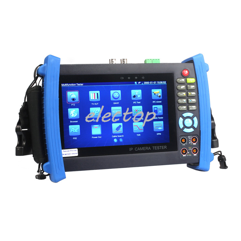 7 inch Touch Screen CCTV Tester IP Camera Tester Video Record Cable Scan HDMI WIFI POE With Digital Multi-Meter 8600M Electop(China (Mainland))