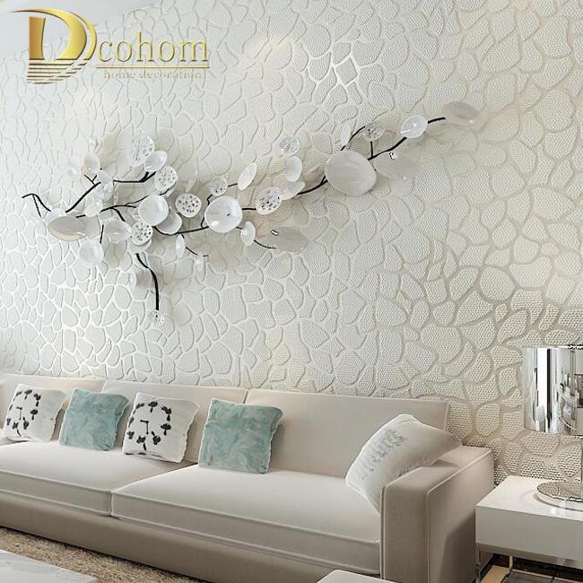 Buy wallpaper non woven black white flower wall paper roll for Living room paper