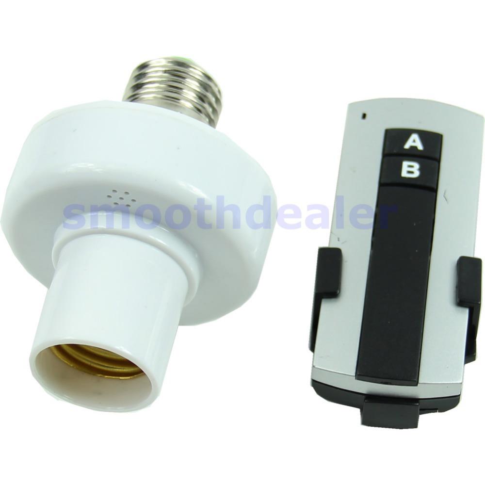 2013 New E27 Screw Wireless Remote Control Light Lamp Bulb Holder Cap Socket Switch(China (Mainland))
