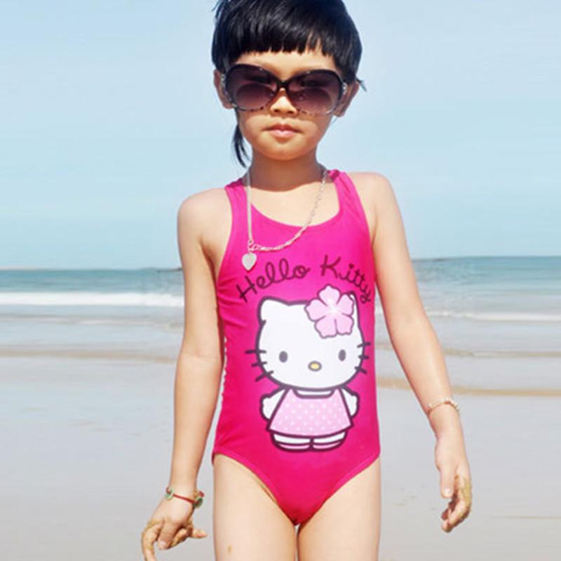 2016 Baby girl one piece swimsuit kids bikini set children swimming toddler cartoon swimwear beach clothing fashion bathing suit(China (Mainland))