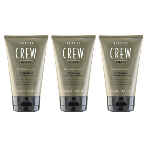 3 PCS American Crew Post-Shave Cooling Lotion 4.2oz, 125ml After Shave Product For Men HOT NEW(China (Mainland))