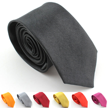 men's black tie slim narrow Satin skinny Wedding Party Groom Plain Tie Necktie Clothing & Accessories high quality