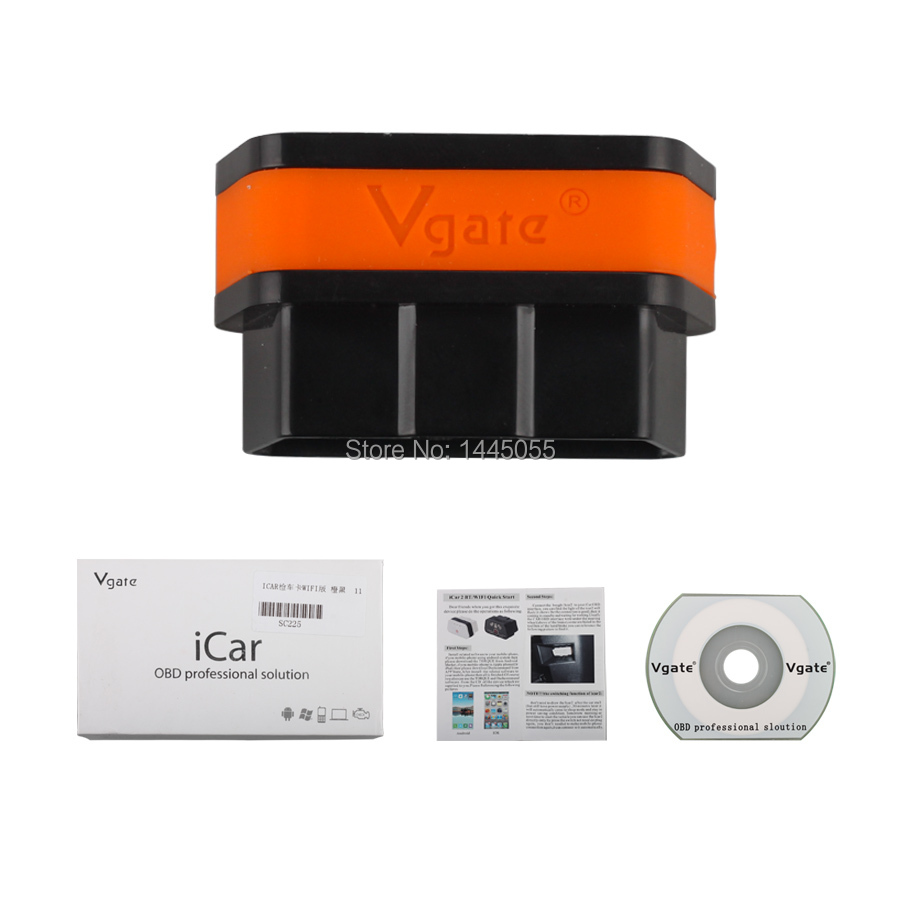 Hot Sale Vgate Icar2 ELM327 eml327 Code Reader obd 2 Wifi Support Android/ IOS/PC Free Shipping(China (Mainland))