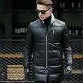 AIBIANOCEL Winter Fashion Male Down Coats Sheepskin Men Genuine Leather Jacket Fur Collar Winter Warm Mens