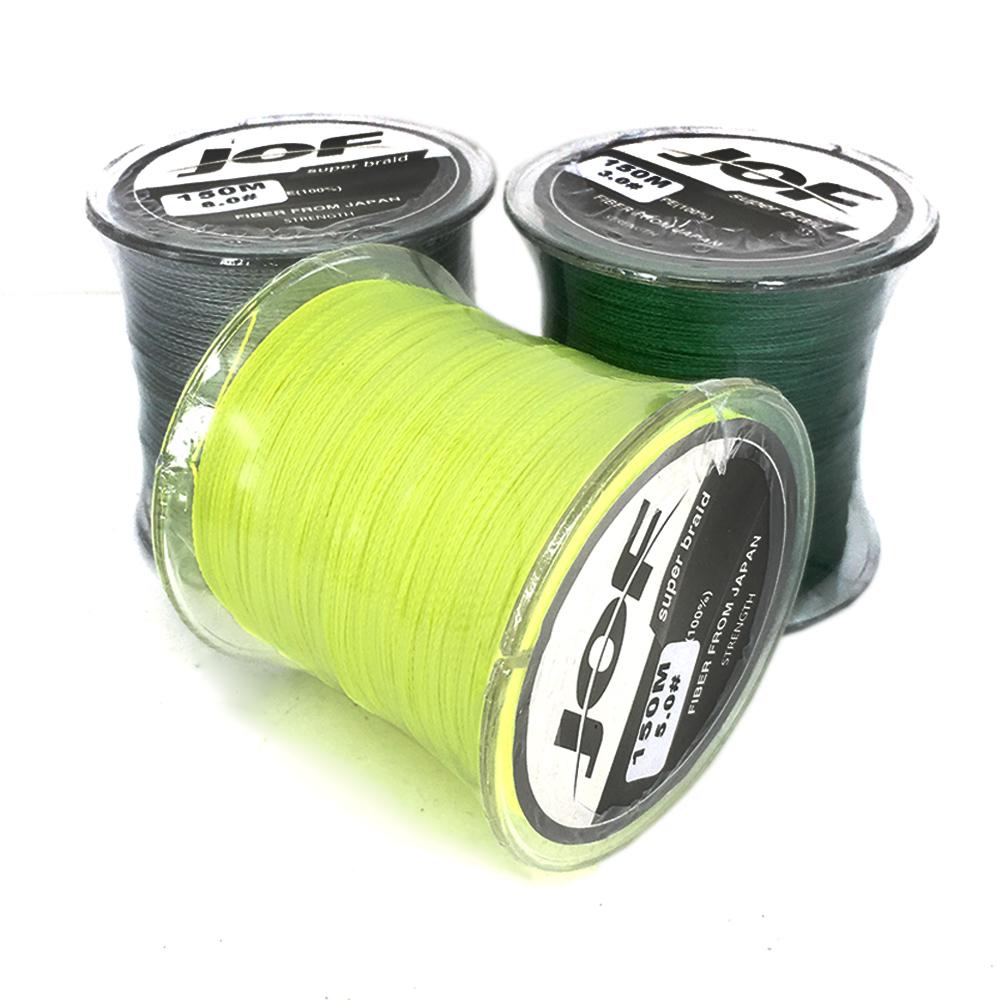 150M JOF FISHING Brand Japan Multifilament PE braided fishing line 4 strands braided wires #3.0 5.0 8.0(China (Mainland))