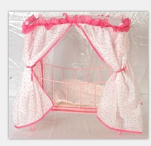 The simulation dolls toys girls play games good quality metal steel frame bed 1 bed +1 doll (China (Mainland))