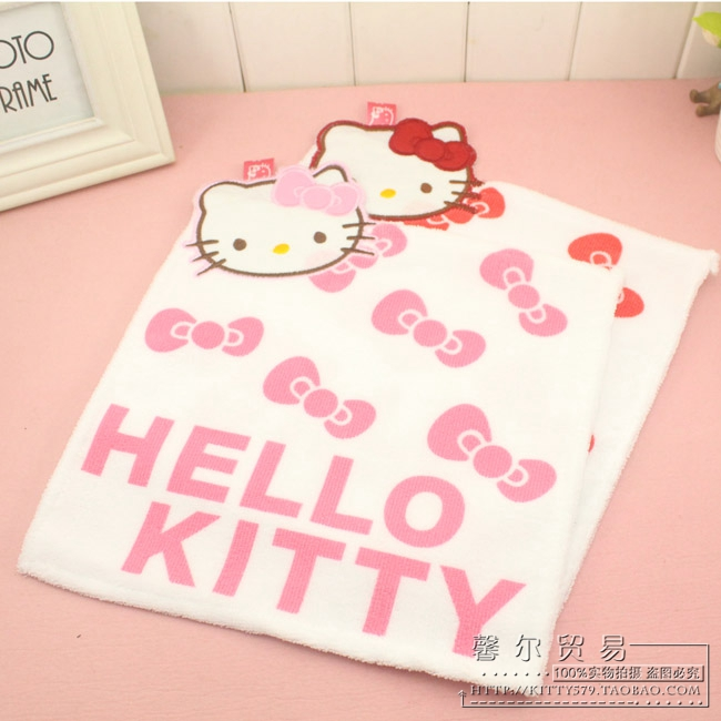 FreeShipping New Arrival hello kitty cute Hello Kitty towel printed towel cleansing towel beauty towel(China (Mainland))