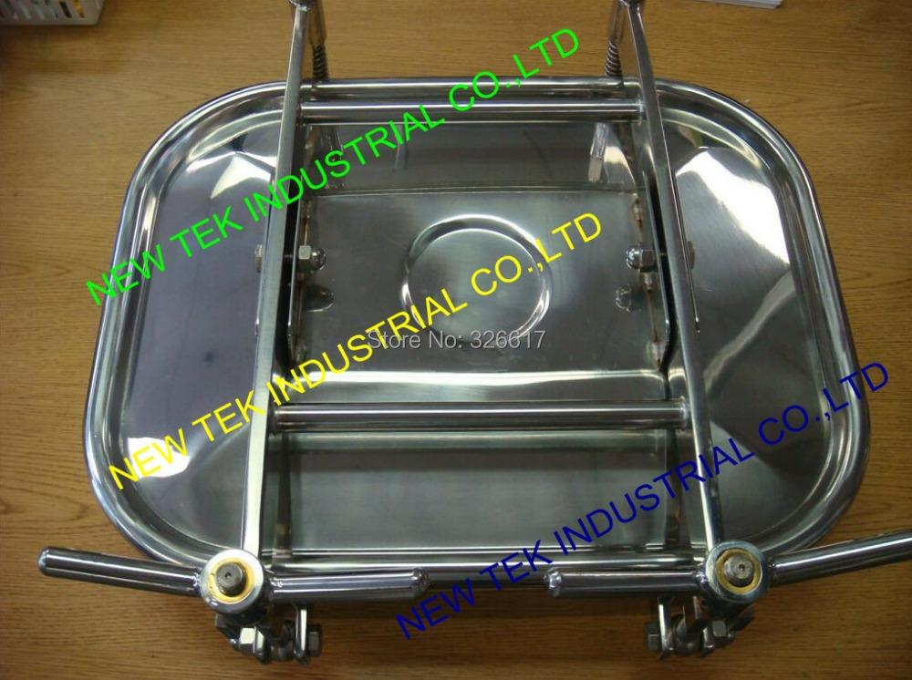"Heavy duty SS304 Rectangular Side Manway Door 17"" x 21"" 430x530 mm Square Manhole Cover NEW TEK Vessel Hatch(China (Mainland))"