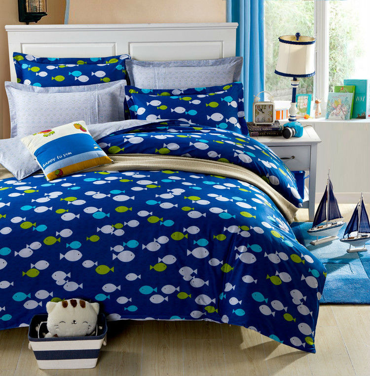 Fish comforter reviews online shopping fish comforter for Fishing bedding sets