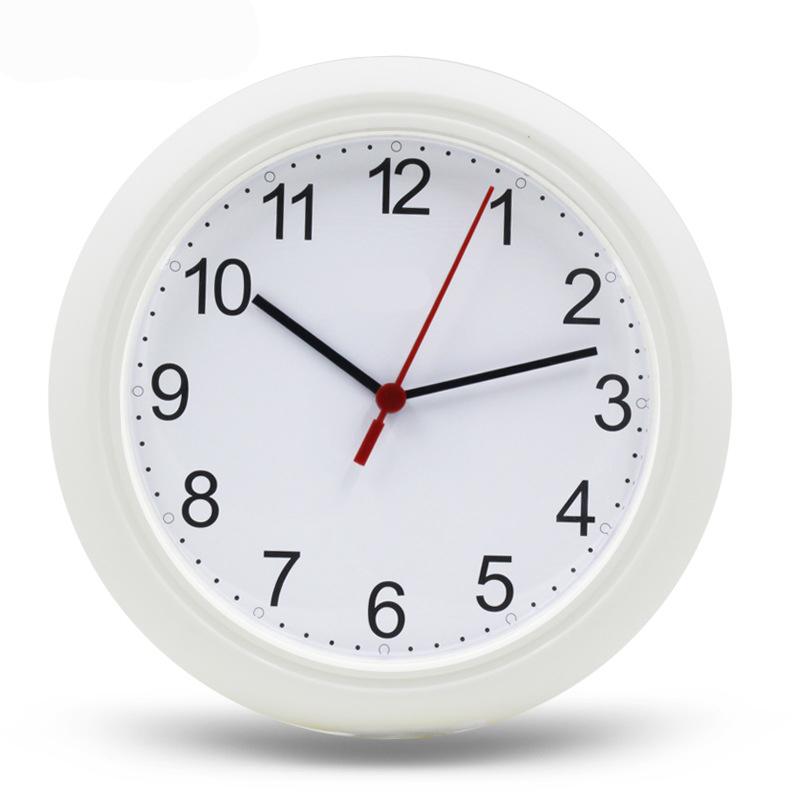 Cheap Wall Clock Home Decor 25cm Digital Quartz uhr Plastic Reloj de pared wanduhr 10 Inch Transparent Simple Clocks(China (Mainland))