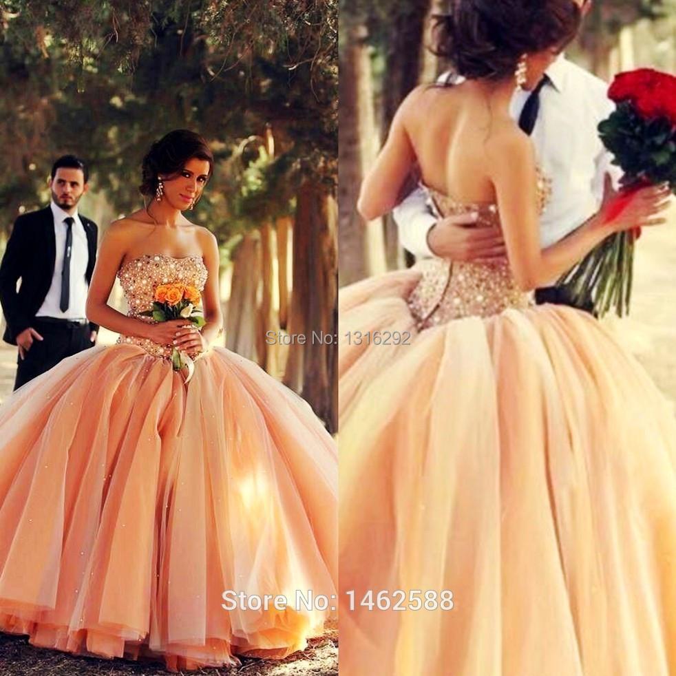 Robe de mariée d'orange