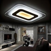 Modern Led Ceiling Chandelier Lights For Indoor Lighting plafon Square Ceiling Chandelier Lamp Fixture For Living Room Bedroom(China (Mainland))