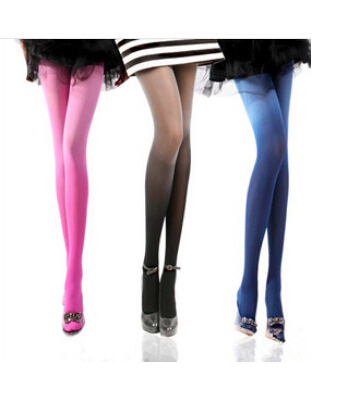 100pcs/lot fedex fast wholesale Women 80D Gradient totto autumn spring winter Stocking colorful Ombre club dancing pantyhose(China (Mainland))