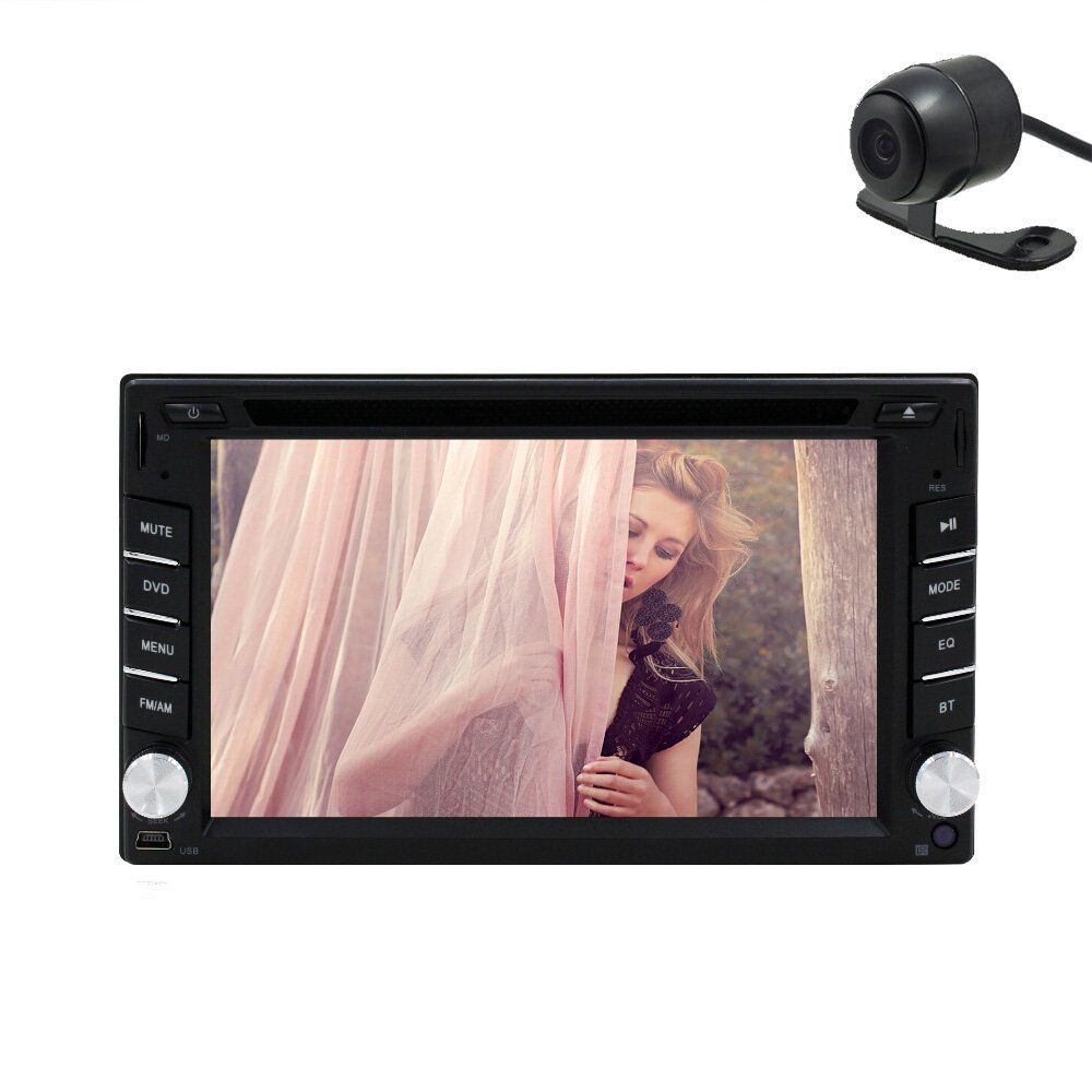 Free HD camera included Windows 8.0 UI CD DVD Player 2 Din Universal Car Stereo Radio 6.2 Inch Touchscreen Camera+Remote control(China (Mainland))