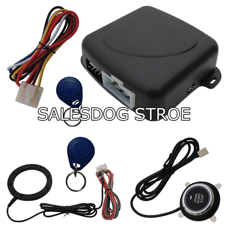 Car Engine Push Start Button/RFID Engine Lock Ignition Starter/Push Button Engine Start Stop System Stock In USA & Australia(China (Mainland))