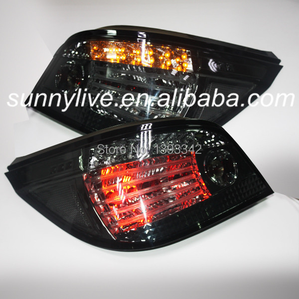 For BMW E60 5 Series 520i 523i 525i 528i 530i LED Tail Lamp 2004 to 2007 year Smoke Black Color SN(China (Mainland))