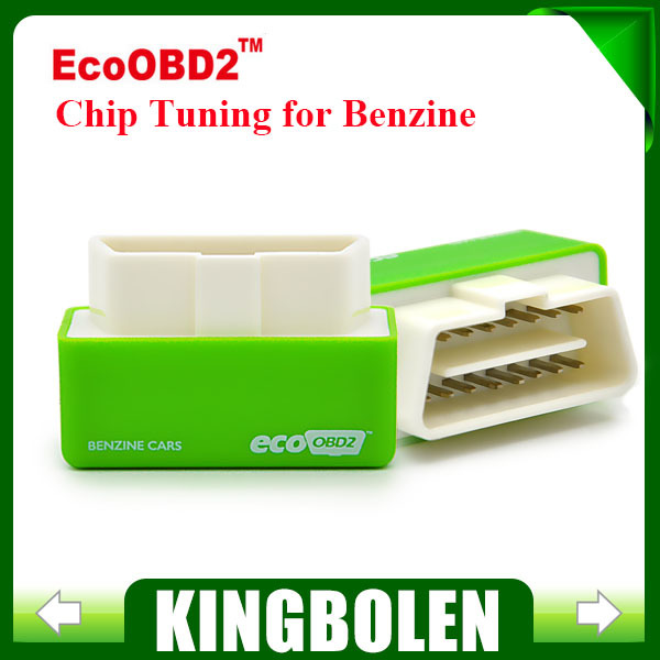 Free Shipping New Arrival EcoOBD2 Benzine Car Chip Tuning Box Plug and Drive OBD2 Chip Tuning Box Lower Fuel and Lower Emission(China (Mainland))