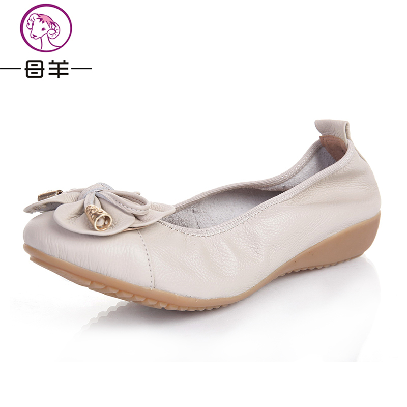 Plus size(35-42) women flats,women genuine leather flat ...