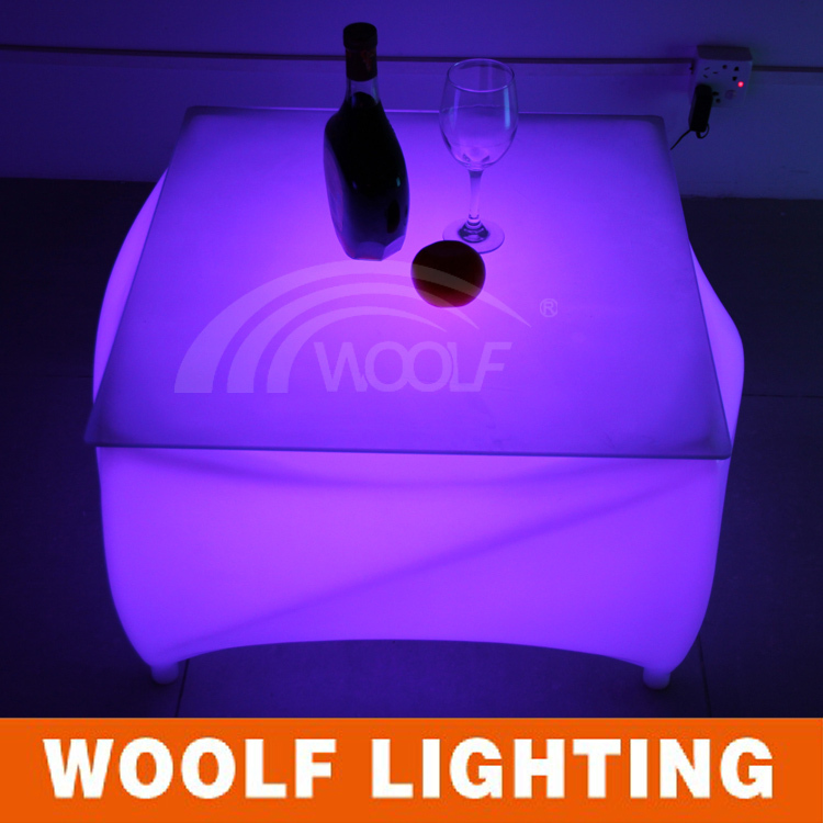 modern design waterproof led cube center table(without glass)(China (Mainland))