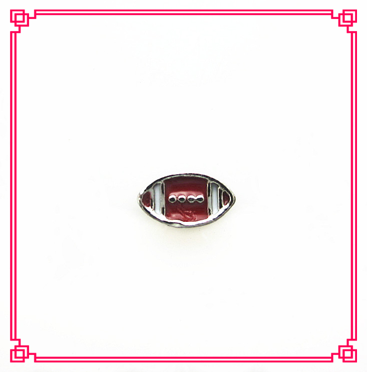 Hot selling football floating charms living glass floating memory locket charms(China (Mainland))