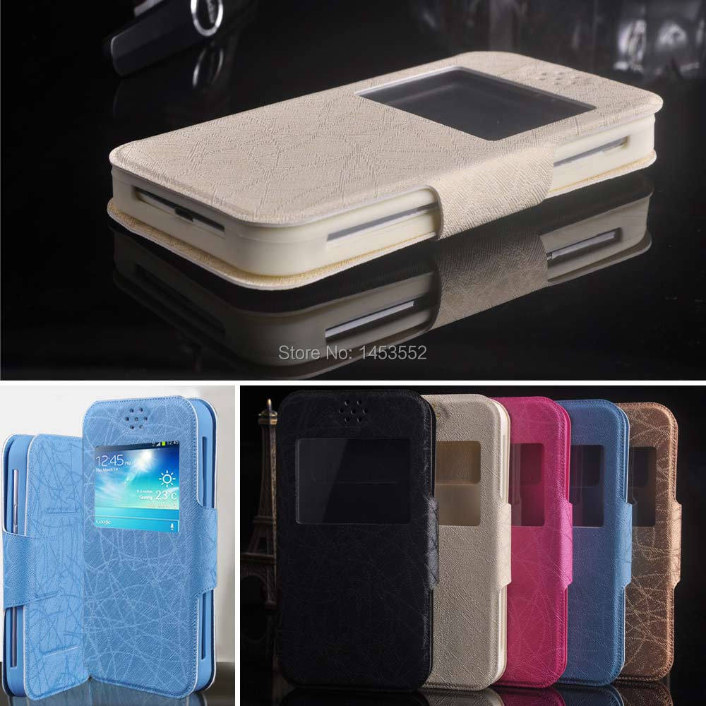 New Item PU Leather Flip for HTC Desire 820G+ dual sim case Luxury Stand Universal Case view window back Cover in stock F1(China (Mainland))
