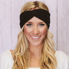 Buy Hot Fashion Elasticity Turban Headbands Women Head Band Headband Headwear Hairbands Bows Girls Hair Accessories for $1.35 in AliExpress store